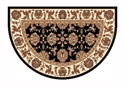 Picture of Black & Ivory Kashan Hearth Rug