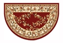Picture of Red & Ivory Trellis Hearth Rug
