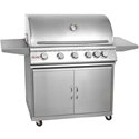 Picture of Blaze 40 Inch 5-Burner Grill With Rear Burner On Cart