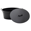 Picture of Black Oval Tub with Lid